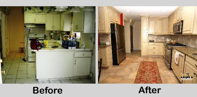 Small u shaped kitchen remodels turn a small u shaped for Turning a galley kitchen into an open kitchen