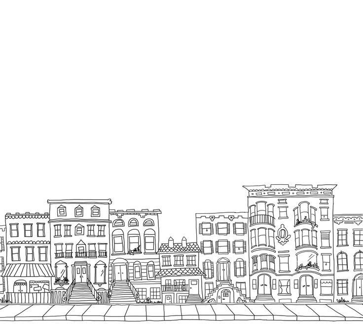 32 best Window Building City Illustrations images on Pinterest