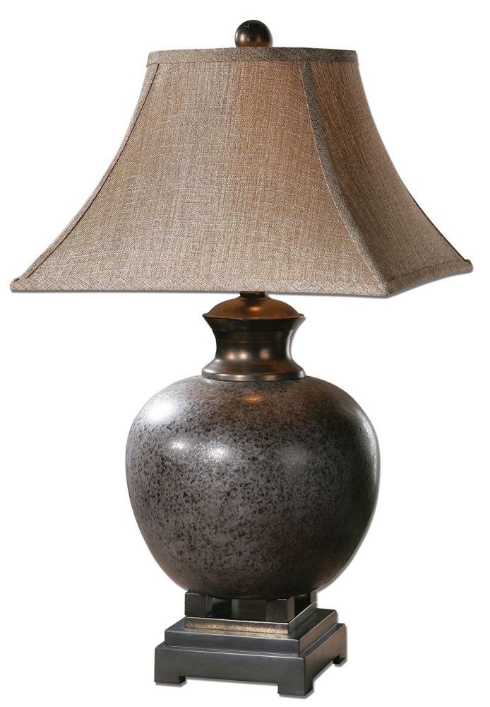 Villaga distressed table lamp by designer carolyn kinder from uttermost