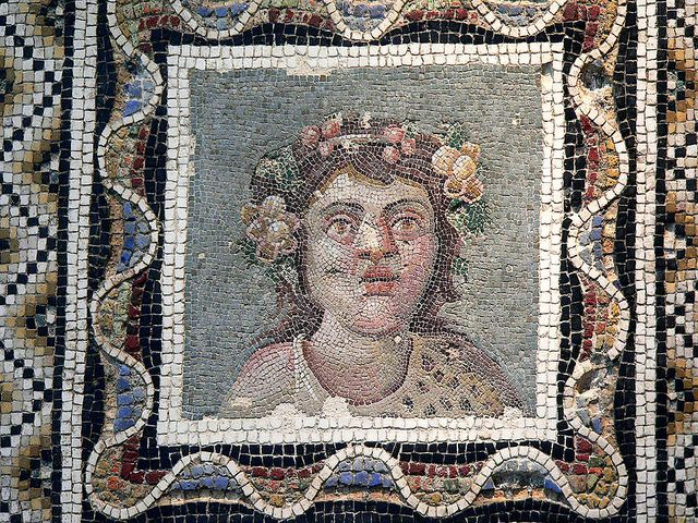 Opus Vermiculatum Mosaic Pavement Depicting Dionysus (Bacchus) Roman 3rd century CE by mharrsch, via Flickr