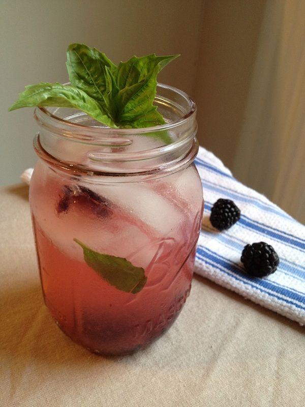 Blackberry-Basil Lemonade