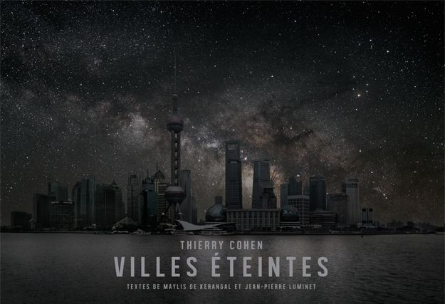 This photograph series by Thierry Cohen shows what our cities would look like at night if they had no lights at all.  To create the images he travelled to regions far away from all artificial light, but on the same latitude as major cities. He photographed the skies, and then combined those images with photographs of the cities in question, altered to remove all lighting.