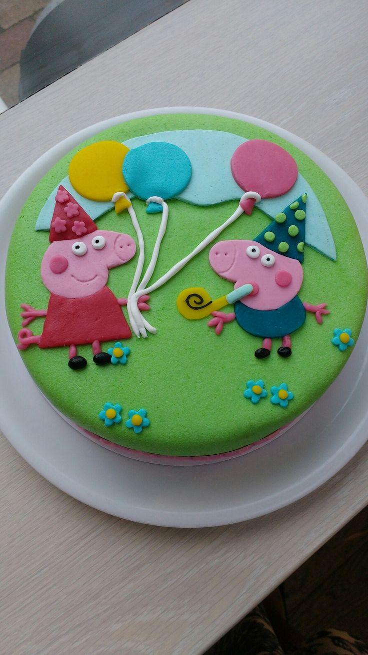 Peppa big taart l Peppa pig cake