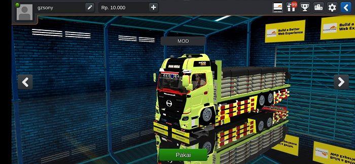Truck Hino Modifikasi Mod Bussid Truk Besar Kendaraan Indonesia