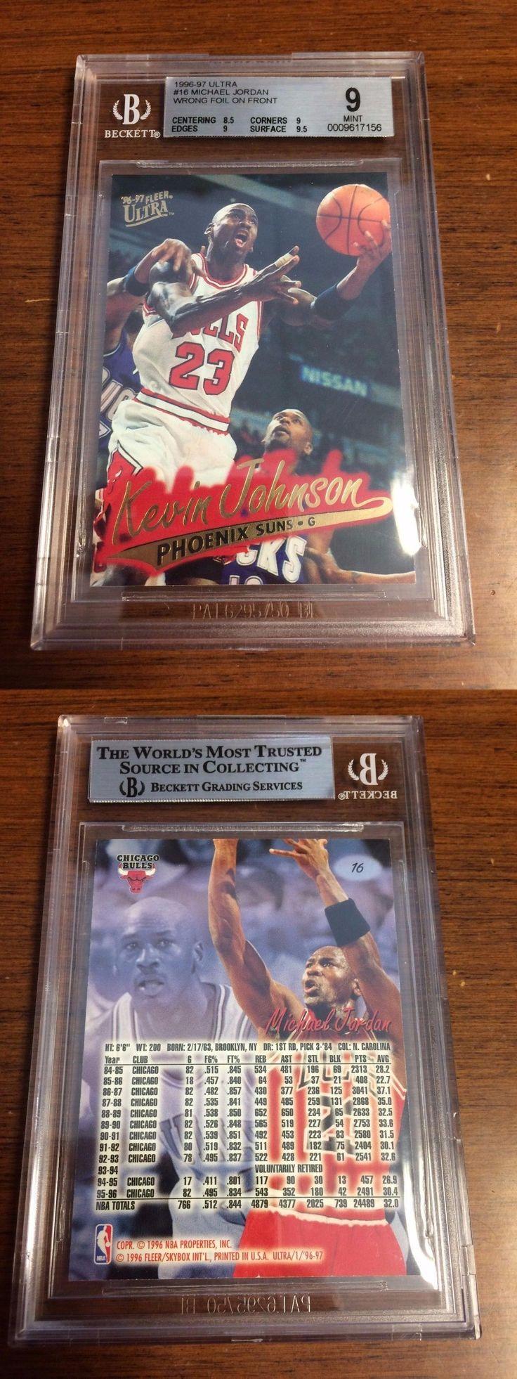 Basketball Cards 214: 1996-97 Fleer Ultra Michael Jordan #16 Wrong Foil 1 1 Bgs 9 Pop 1 Kevin Johnson -> BUY IT NOW ONLY: $299.95 on eBay!