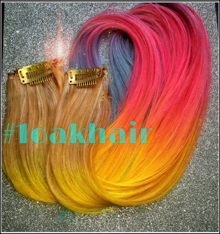 36 best colored hair hair extensions rainbow hair images on blended rainbow colored hair extensions 100 real remy human hair blended hair pmusecretfo Choice Image