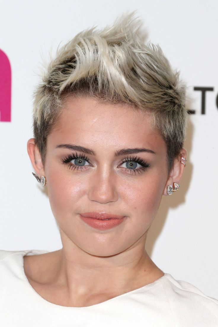 Miley Cyrus at the 2013 Elton John Academy Awards viewing party.