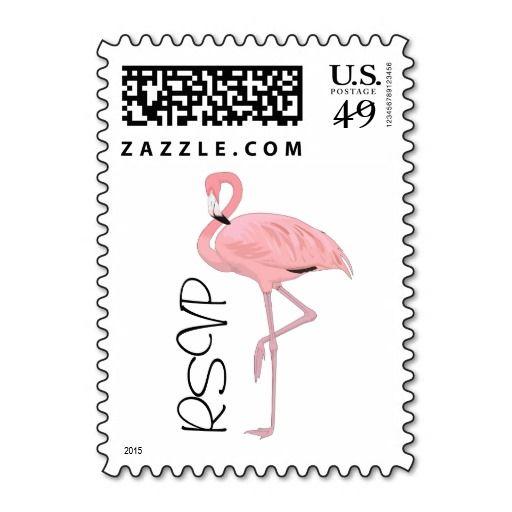 sold 4 sheets of Flamingo RSVP custom US Postage stamps