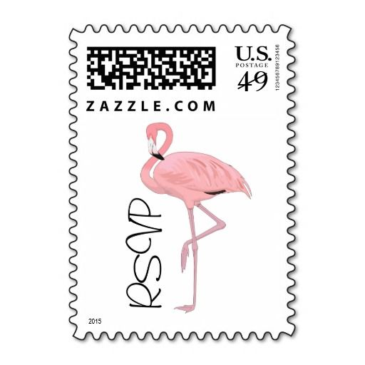 sold 4 sheets of Flamingo RSVP custom US Postage stamps