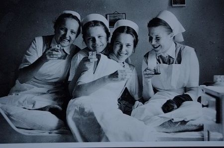 Vintage nurses drinking. See more: http://www.nursebuff.com/2014/08/vintage-photos-of-nurses/