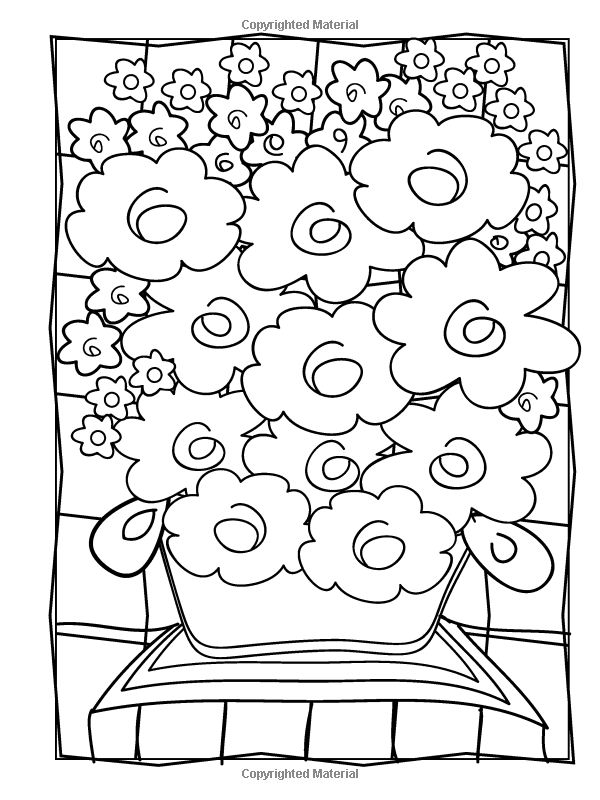 Creative Haven Fabulous Flowers Coloring Book By Susan Bloomenstein