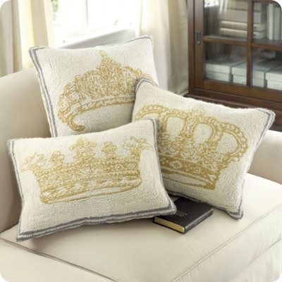 Crown Pillows!!!!! Obvi a must have!