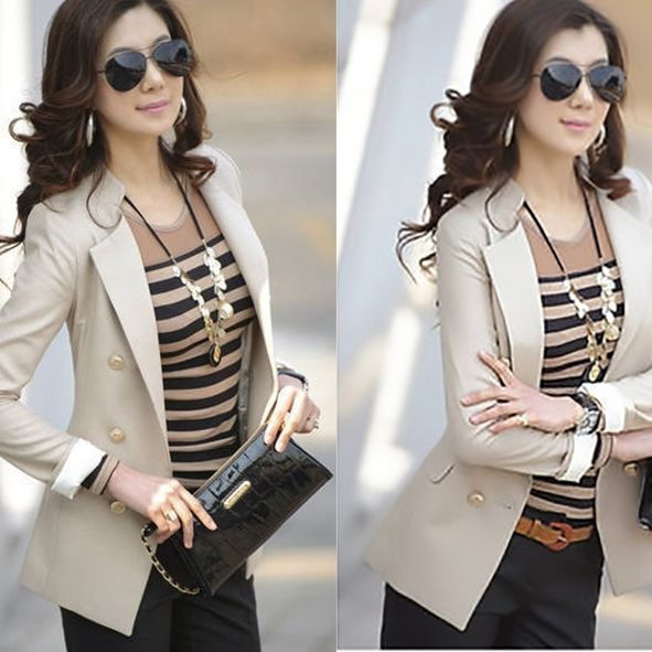 New Women Fashion Office Lady Slim Fit Blazer, Slim Casual Jacket, Slim Outfit #WeGee #Blazer