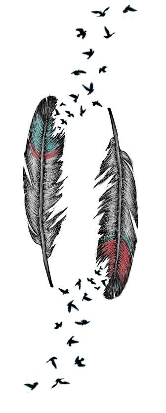 Feather Tattoo by AlliMonae.deviantart.com on @deviantART