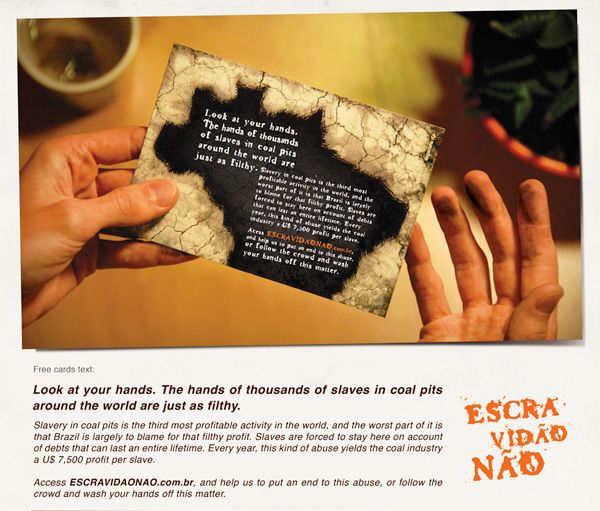 Dirty Cards - Guerrilla Marketing Direct Mail Ads with Coal