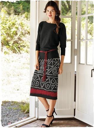 Pima Cotton Bandhani Skirt $109