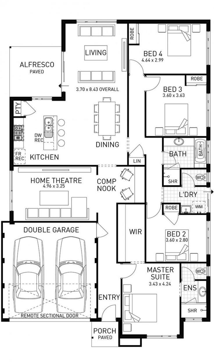 97 best floor plans images on pinterest architecture floor indulgence single storey floor plan wa floor planshome designhouse