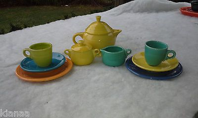 Fiesta® Dinnerware 11pc. Childu0027s Tea Set (discontinued) made by Homer Laughlin China & 231 best Fiesta® / Homer Laughlin China: Childrenu0027s Fiesta ...