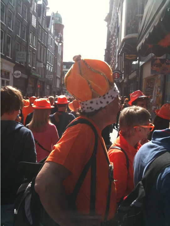 On Queen's day, you can dress how you want...