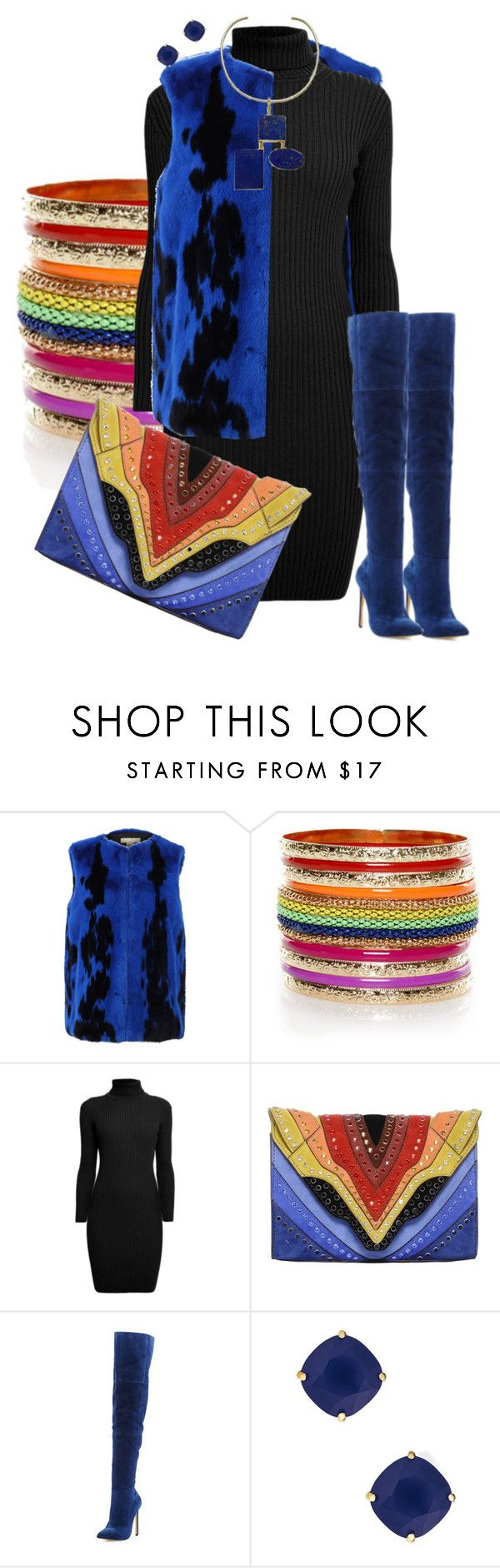 """""""Rainbow Clutch"""" by hope-houston on Polyvore featuring Michael Kors, Rumour London, Elena Ghisellini, Neiman Marcus and Kate Spade"""