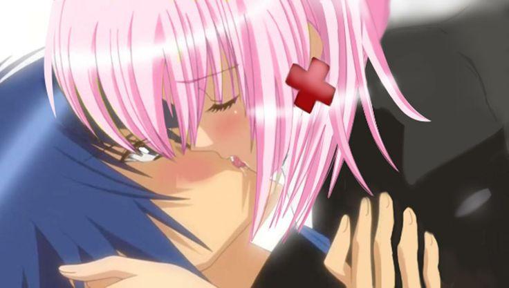 Amu and Ikuto Kiss