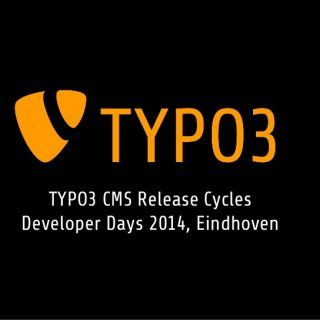 TYPO3 CMS Release Cycles Developer Days 2014, Eindhoven   Inspiring people to share T3DD14, Eindhoven, NL Release Cycle of the Future TYPO3 CMS Release Cy. http://slidehot.com/resources/typo3-cms-release-cycles-after-6-2-lts-draft.65516/