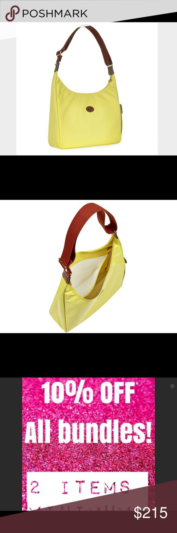 🌼NWT Longchamp Hobo Bag Le Pliage Yellow France🌻 🏇🌼NWT Longchamp Hobo Bag Le Pliage Neon Yellow Convertible Crossbody France🌻❤️THANKS FOR SHOPPING @SAFFORDHALL! WE LOVE GREAT OFFERS! SELLERS LOOK FOR 80-90% + OF LIST PRICE TO WIN YOUR BID!❤️BUNDLE TO SAVE!❤️NO TRADES NO LOWBALLS!❤️BULLYS, TROLLS AND HARASSERS ARE REPORTED AND BLOCKED❤️KEEP POSHMARK CLASSY!❤️SPREAD THE LOVE!❤️DO UNTO OTHERS AS YOU WOULD HAVE THEM DO UNTO YOU❤️STOP THINK ACT PROCEED❤️WE WORK HARD TO BRING YOU THE CUTEST…