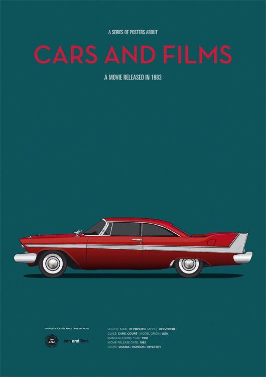 Christine (1983) ~ Minimal Movie Poster by Jesus Prudencio ~ Cars and Films Series