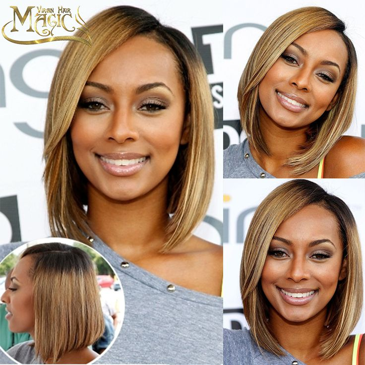 Glueless Short Bob Hairstyles Full Lace Human Hair Wigs For Black Women Two Tone Ombre T1B/ Blone Hair Lace Front Wig