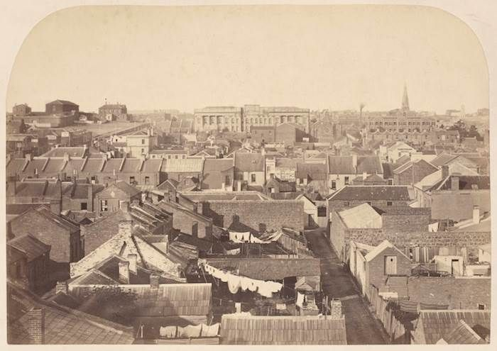 Melbourne looking east 1860