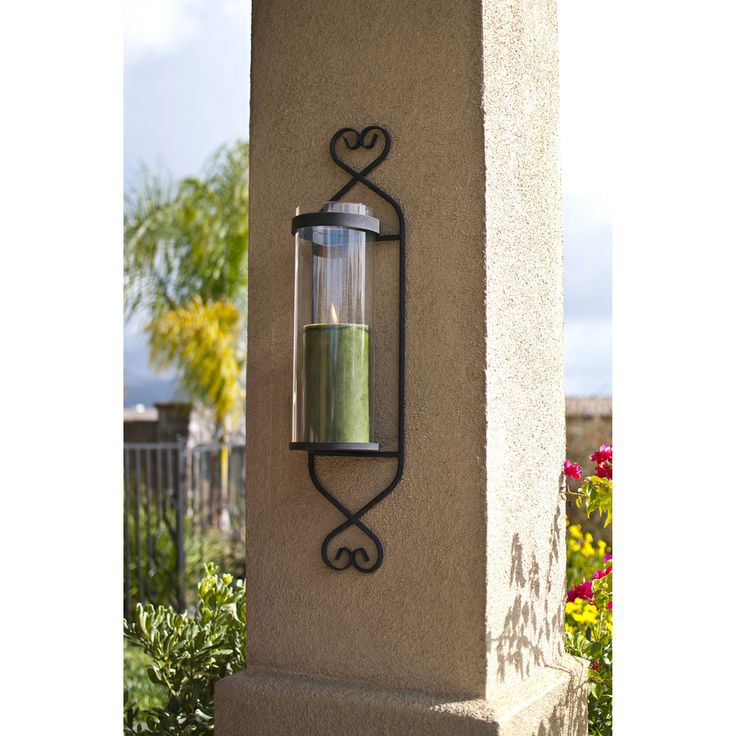Iron Glass Cylinder Wall Sconce Candle Holder By Danya B
