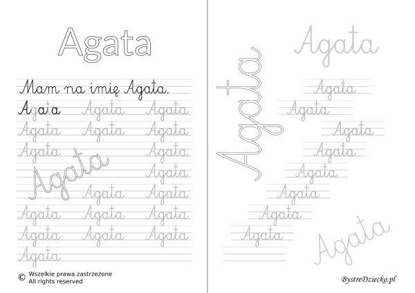 Karty pracy z imionami - nauka pisania imion dla dzieci