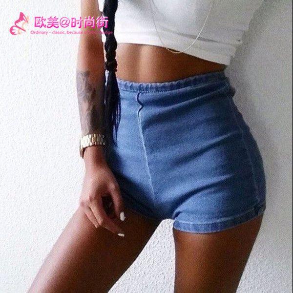 2016 летние женщины высокой талии шорты джинсовые брюки женские джинсы