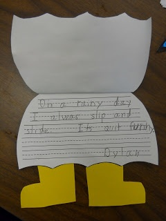 Mrs. T's First Grade Class: Spring---cute idea for a spring craft and writing.  Also a lesson on adjectives!