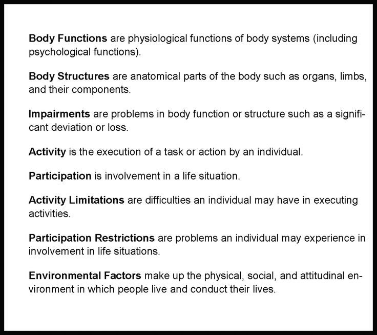 The ICF: A Classification System and Conceptual Framework Ideal for Rehabilitation