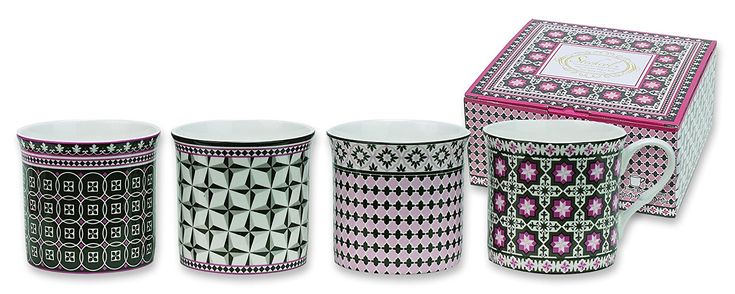 Heath McCabe Princess Near East Beaker Fine Bone China Mugs, Pack of 4: Amazon.co.uk: Kitchen & Home