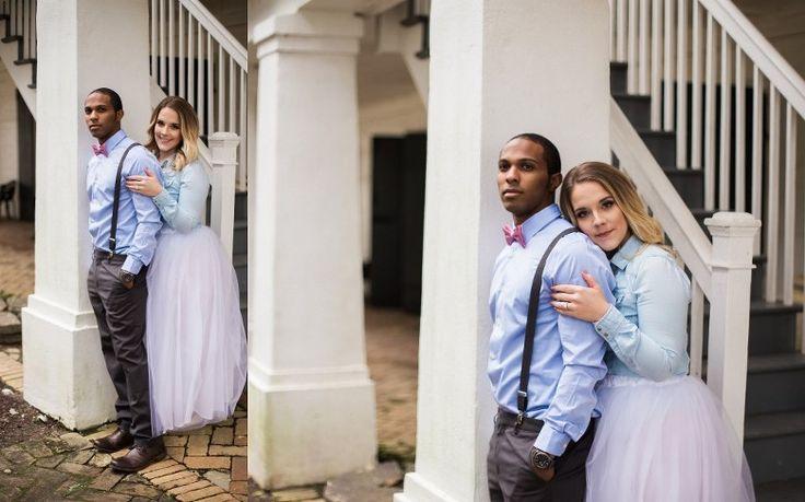 Whitney Plantation south Louisiana engagement photographed by Kaylie Nicole Photography #engagementsession #tutu #bowtie