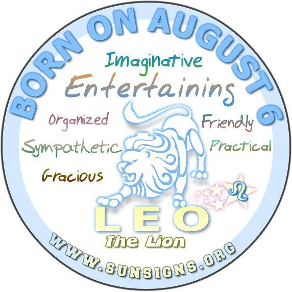 August 6 Birthday Horoscope Personality » Sun Signs