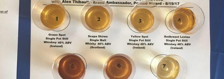 Ireland & Scotland go head to head...single malt scotch whisky vs. single pot still whiskey, including expressions from RedBreast, Glenlivet, Yellow Spot, Green Spot, Scapa, and Aberlour