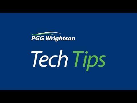 PGG WRIGHTSON TECH TIP - YouTube