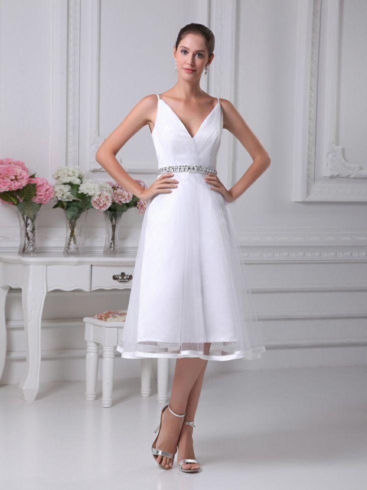 Tea Length Wedding Dress for Older Bride