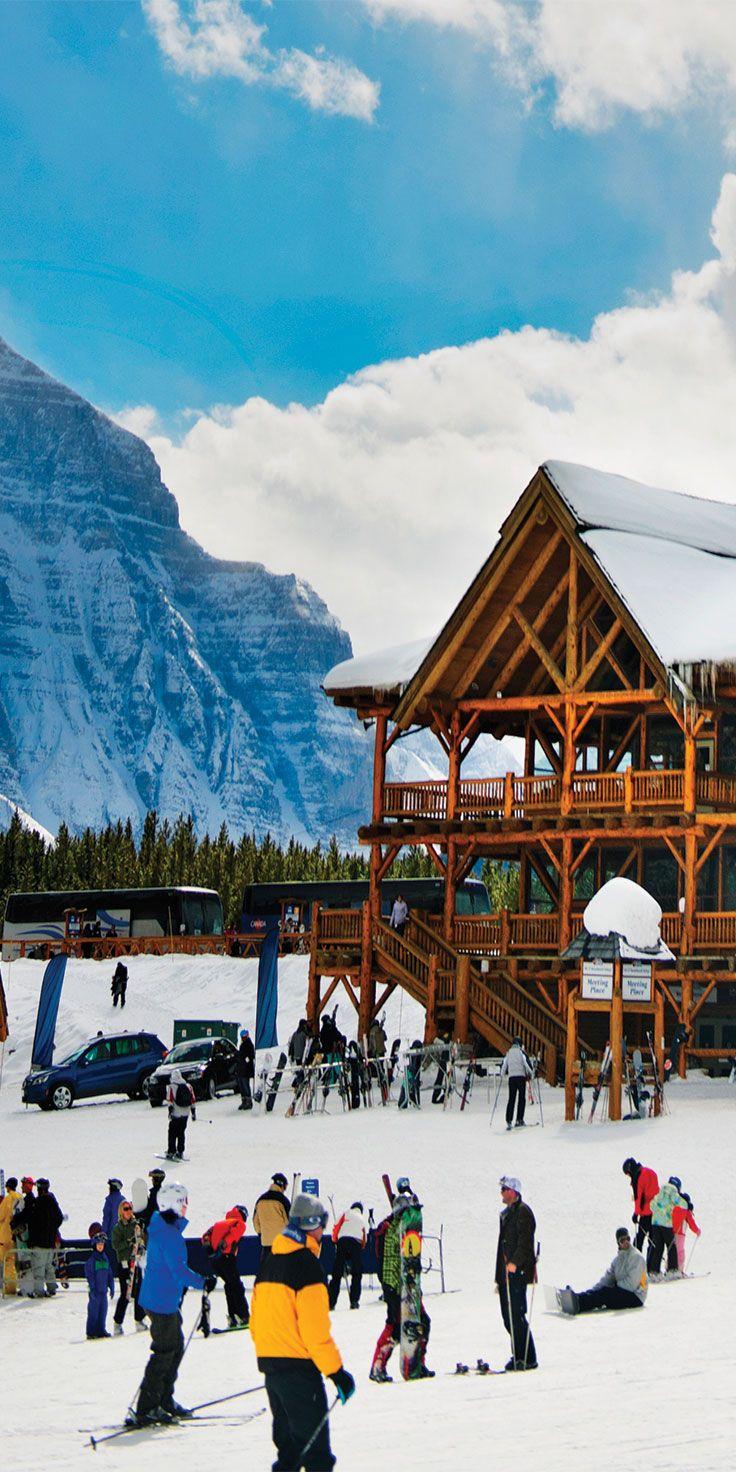 Ski season is in full swing in Alberta, Canada.