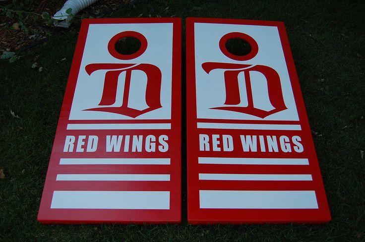 Detroit Red Wings cornhole boards!
