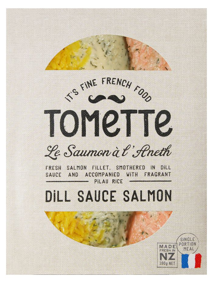 TOMeTTe. French meets casual Kiwis (New Zealander) food venture of ThOMas and eTienne. #packaging #design #type