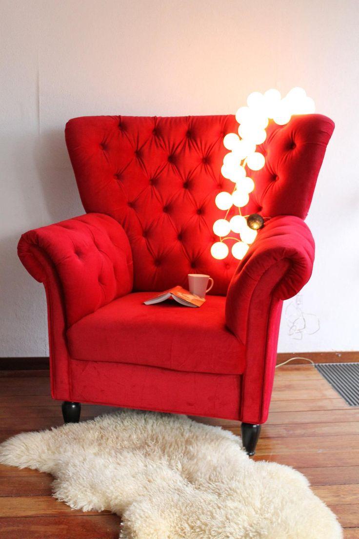skönt att sitta gott med mysbelysning nära :) #cottonballights #heminredning #interiör #vardagsrum#mysigt#rött#harmoni