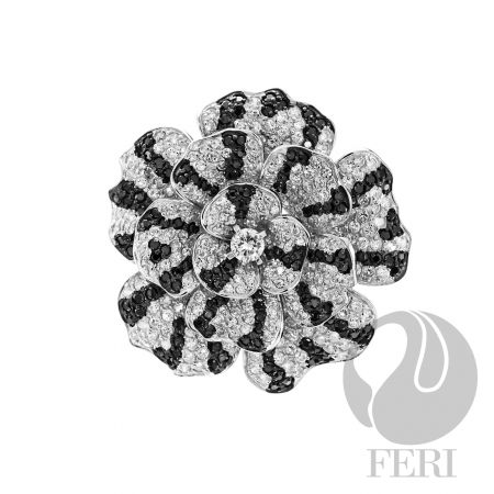 Mystic Bloom Brooch....GWT Galleries, FERI Designer Lines, FERI MOSH 21K, 19K Collection (Bridal Collection, Special Projects)