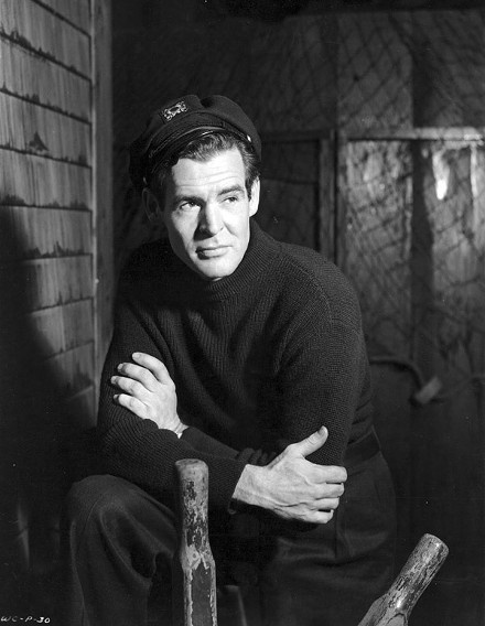 Robert Ryan in Caught, 1949 film noir starring James Mason, Barbara Bel Geddes and Robert Ryan
