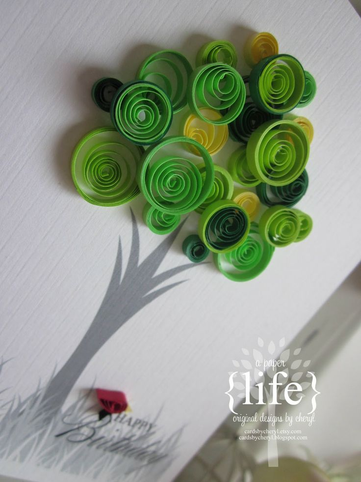 quilling trees | probably because that is when my favourite colour {green}