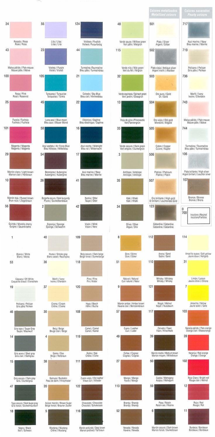 Tarrago Leather Dye Colour Chart