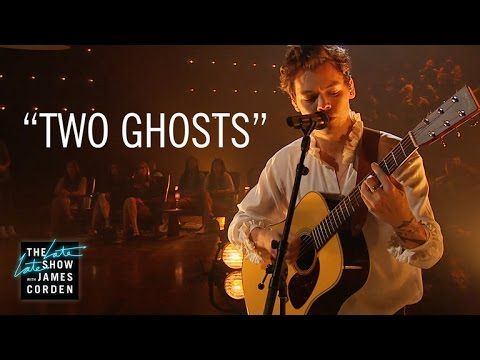 """Late Late Show music guest Harry Styles performs his new song """"Two Ghosts"""" for the audience. Get the debut album here http://hstyles.co.uk/music """"Subscribe T..."""